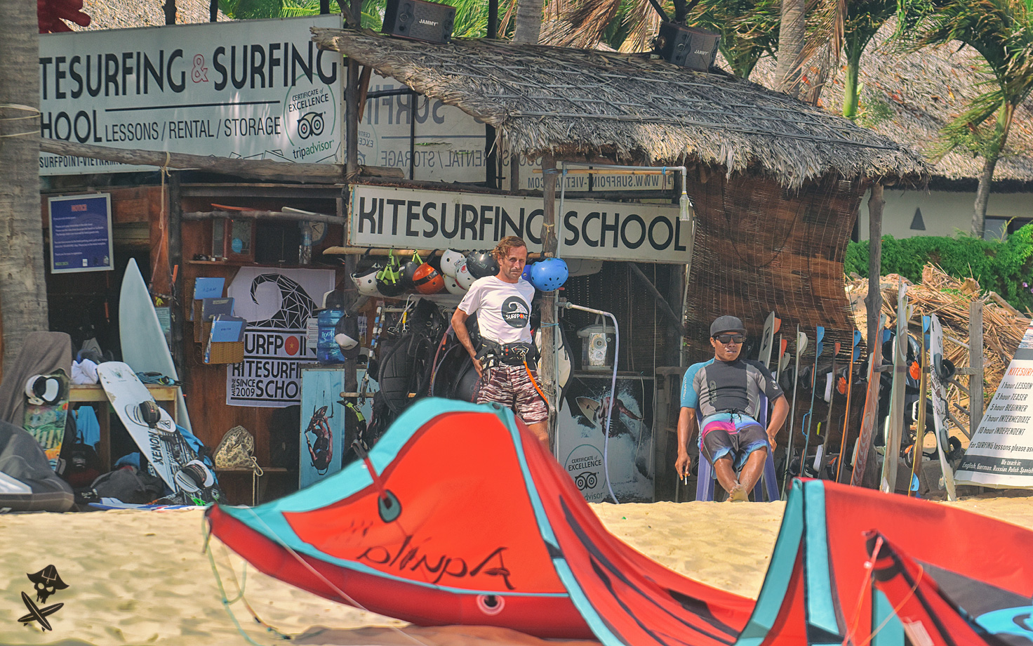 view at the surfpoint kite school in vietnam mui ne